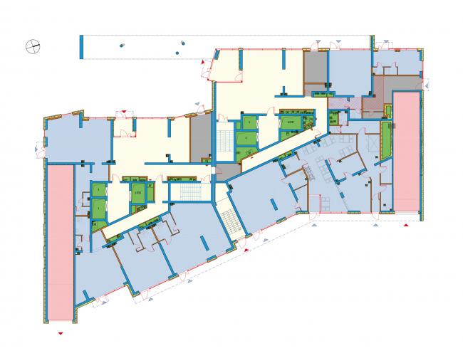 Бульвар Генерала Карбышева 7. План 1 этажа. Жилой квартал «Юнион Парк»