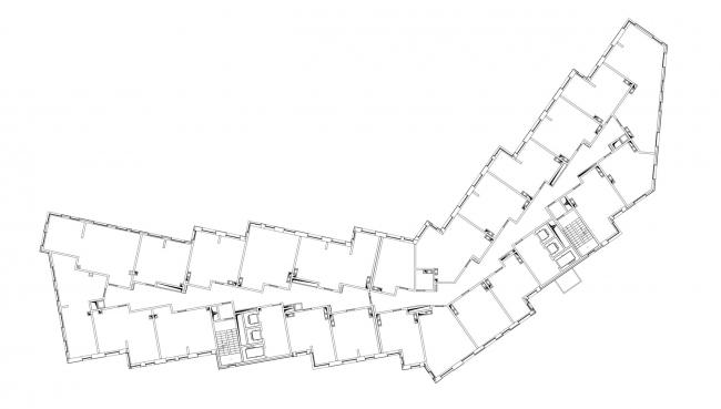 План 2 этажа. Жилой комплекс «Букинист»