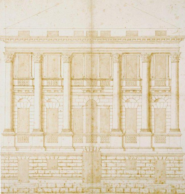 Андреа Палладио. Палаццо у воды. Проект. Музей Виченцы