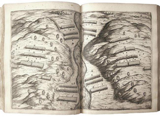 Разворот «Истории» Полибия с иллюстрацией Палладио