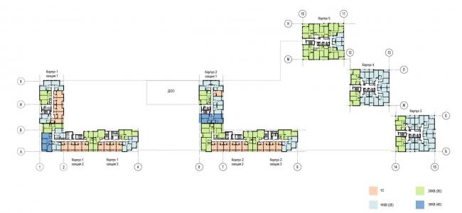 План типового этажа. Многоквартирный дом