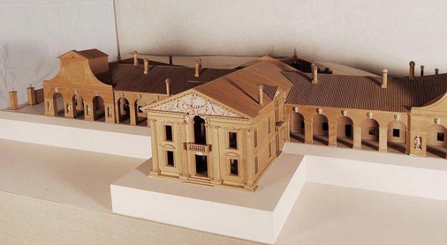 Модель виллы Барбаро в Мазере