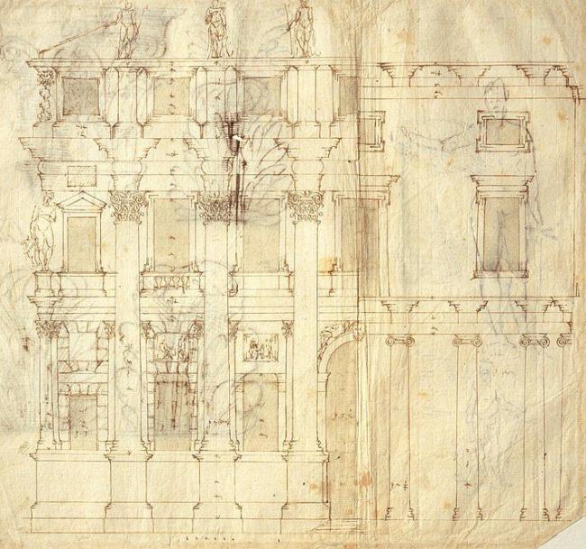 Андреа Палладио. Фасад Палаццо Вальмарана. RIBA