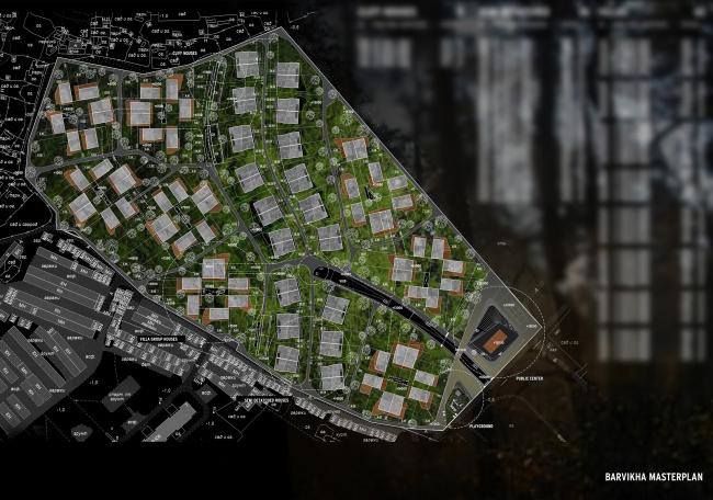 """Генеральный план коттеджного поселка """"Барвиха-Hills"""". Архитектор Эрик ван Эгераат"""