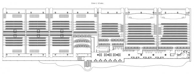 План 2 этажа. Дизайн-проект интерьера КЦ «Большой»