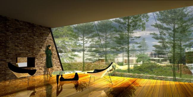 """Коттеджный поселок """"Барвиха-Hills"""". 3-D визуализация. Архитектор Эрик ван Эгераат"""