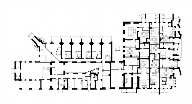 План 1 этажа. Реновация заброшенной фабрики под частный жилой комплекс для компании «АМИЛКО» в городе Миллерово