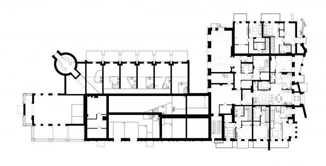 План 2 этажа. Реновация заброшенной фабрики под частный жилой комплекс для компании «АМИЛКО» в городе Миллерово