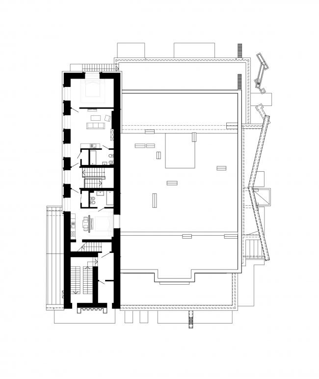 План 3 этажа. Реновация заброшенной фабрики под частный жилой комплекс для компании «АМИЛКО» в городе Миллерово