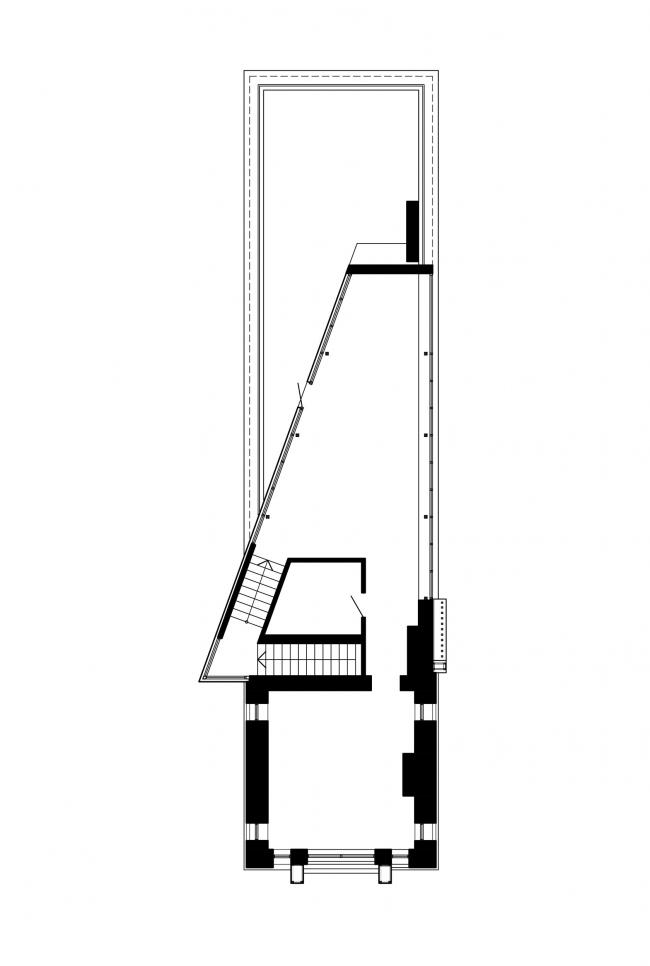 План 4 этажа. Реновация заброшенной фабрики под частный жилой комплекс для компании «АМИЛКО» в городе Миллерово