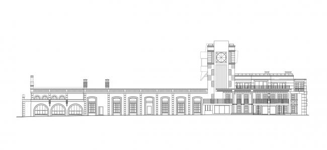 Фасад. Реновация заброшенной фабрики под частный жилой комплекс для компании «АМИЛКО» в городе Миллерово