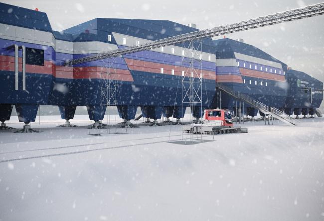 Оснащение здания топливопроводом. Новый зимовочный комплекс антарктической станции «Восток»