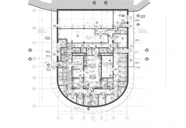 План 1 этажа. Ресторан в горах
