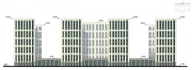 Фасады. Главный фасад. Жилой дом на Кондратьевском проспекте