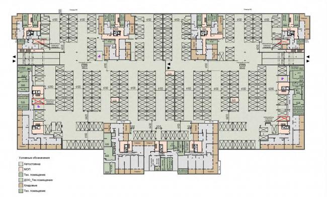 План подземной автостоянки. Жилой дом на Кондратьевском проспекте