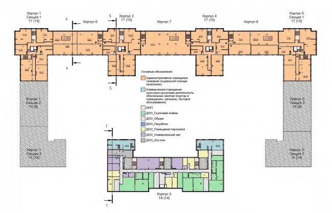 План 2 этажа, встроенные помещения. Жилой дом на Кондратьевском проспекте