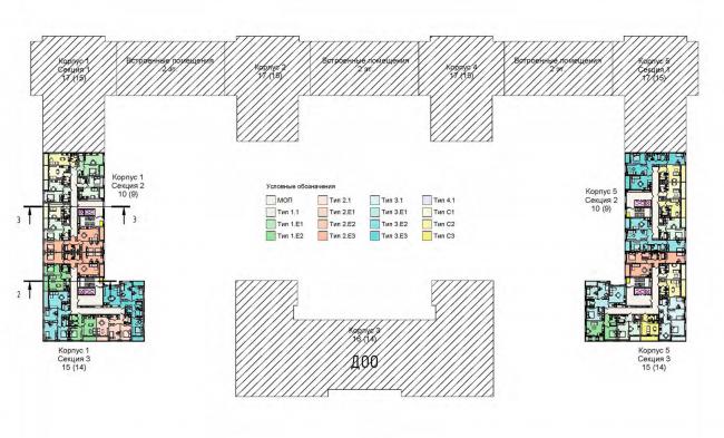План 2 этажа. Жилой дом на Кондратьевском проспекте