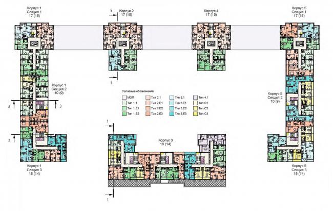 План 3 этажа. Жилой дом на Кондратьевском проспекте
