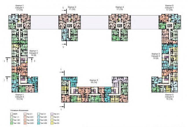 План 4-10 этажа. Жилой дом на Кондратьевском проспекте