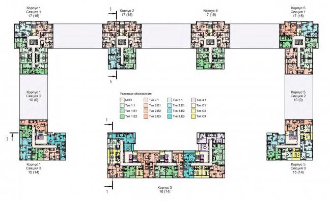 План 11-15 этажа. Жилой дом на Кондратьевском проспекте