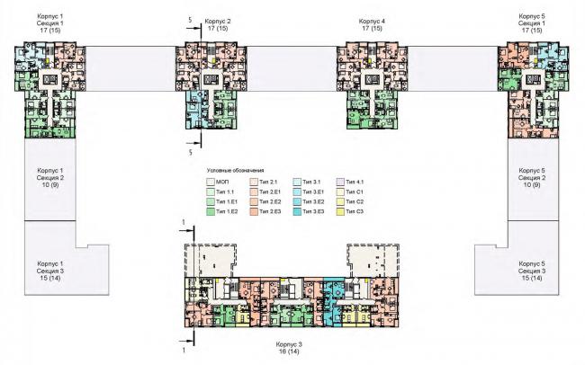 План 16 этажа. Жилой дом на Кондратьевском проспекте