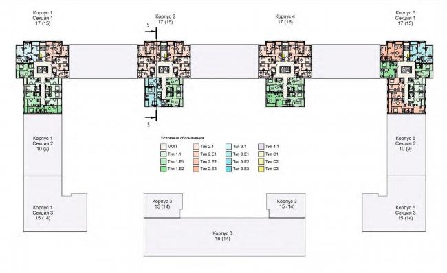 План 17 этажа. Жилой дом на Кондратьевском проспекте