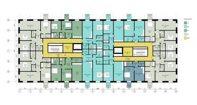 План типового этажа. Жилой дом на Гаванской улице