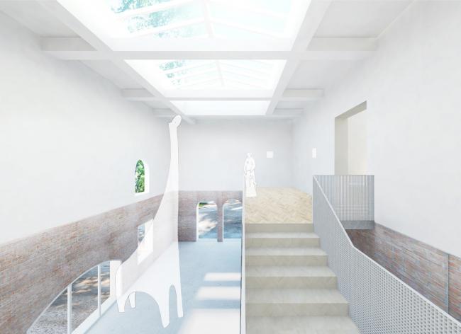 Проект реконструкции павильона России на биеннале в Венеции, 2020-2021. Выставочное пространство, северная часть, вариант
