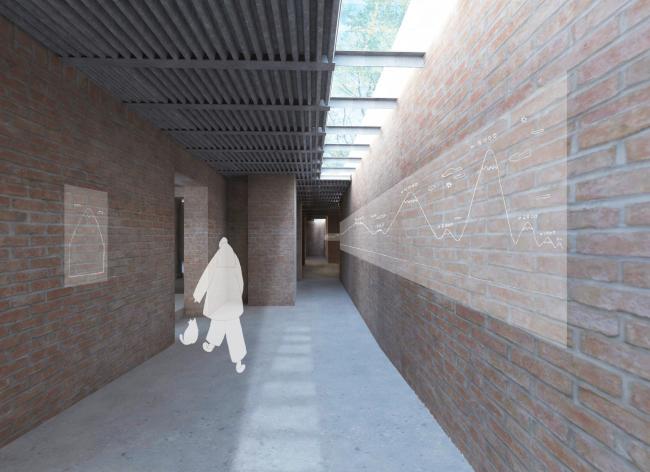 Проект реконструкции павильона России на биеннале в Венеции, 2020-2021. Галерея, южная часть