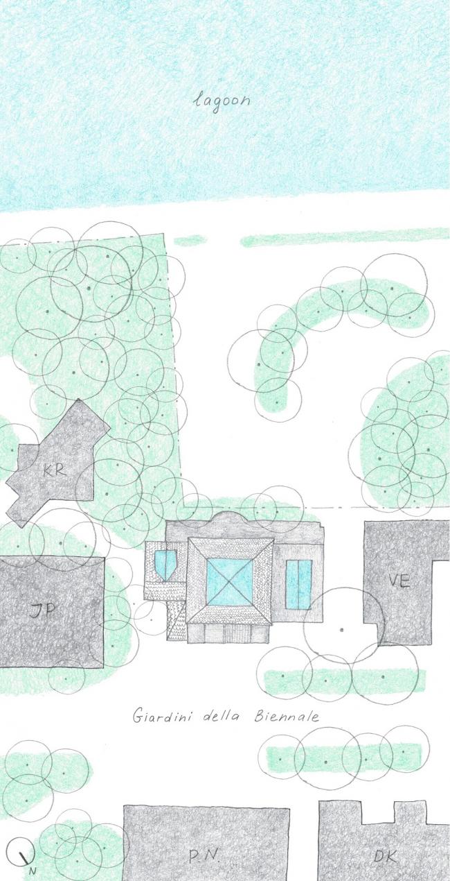Проект реконструкции павильона России на биеннале в Венеции, 2020-2021. Мастер-план территории (рисунок)