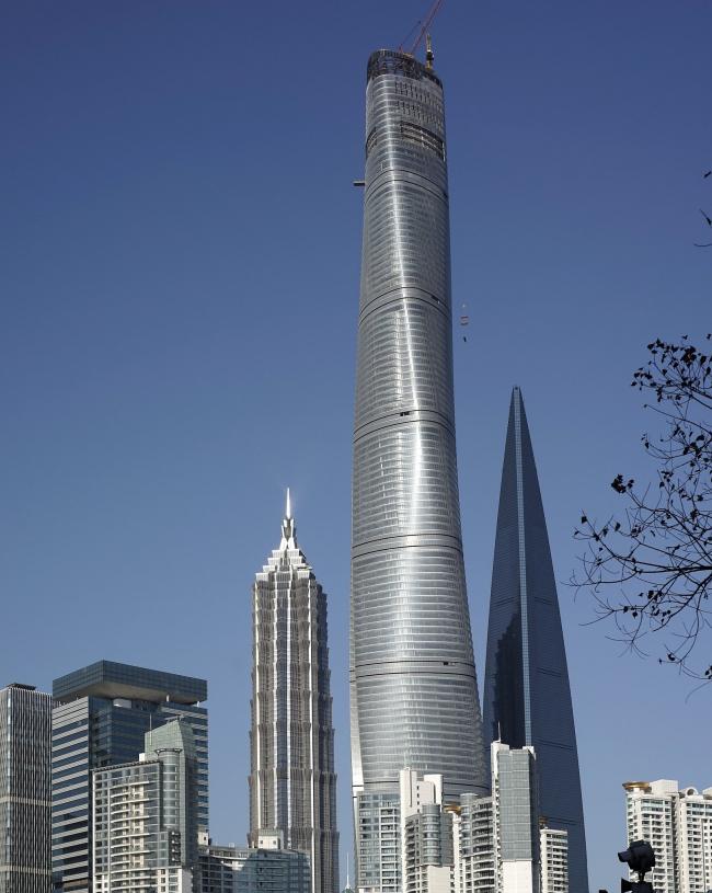Башня Shanghai Tower в 2014