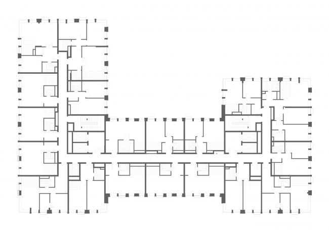 "План 2-8 этажа. Апартаментный комплекс ""Play"""