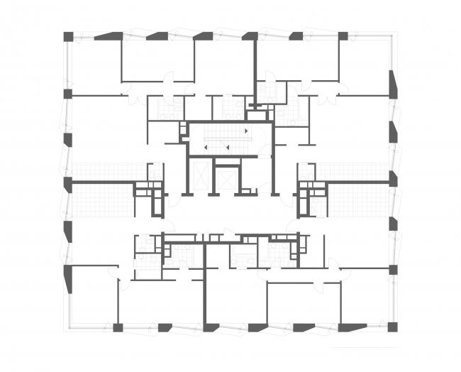 План 4-8 этажа. ЖК «Maison Rouge»