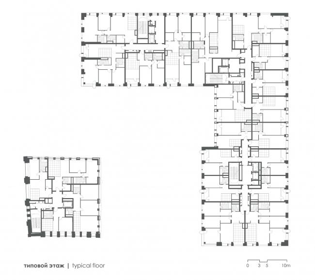 План типового этажа. Жилой дом Реномэ