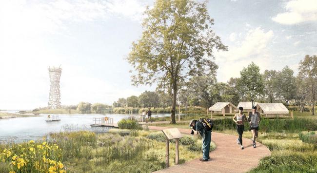 Конкурсная концепция развития центральной части Саратова. Зеленый остров