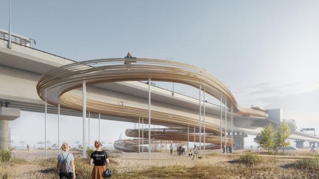 Конкурсная концепция развития центральной части Саратова. Остров Покровские пески