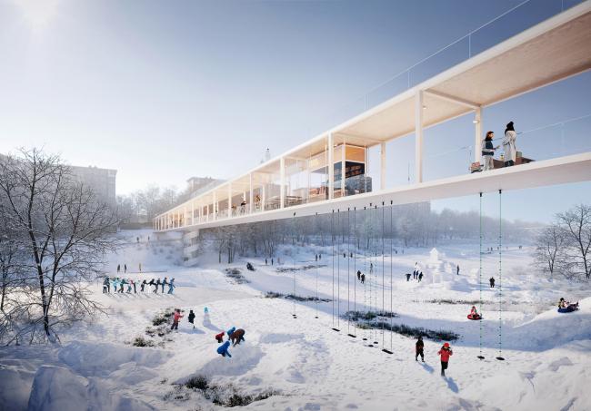 Конкурсная концепция развития центральной части Саратова. Глебучев овраг