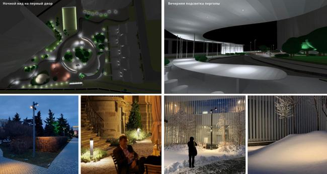 Визуализация ночного вида. Городские резиденции «Spires»