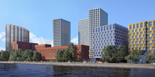 "The apartment complex ""Novodanilovskaya 8"""