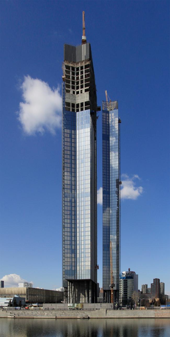 Capital towers на Краснопресненской набережной, 03.2021. Вид с юга