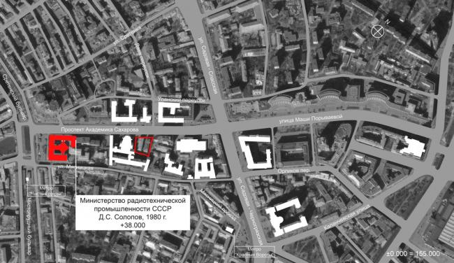 Многофункциональный комплекс на Мясницкой улице. Ситуационный план, окружение