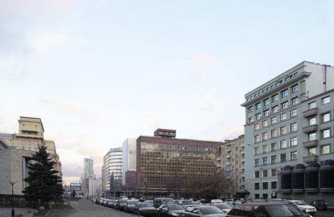 Многофункциональный комплекс на Мясницкой улице. Вид 1 с проспекта Академика Сахарова