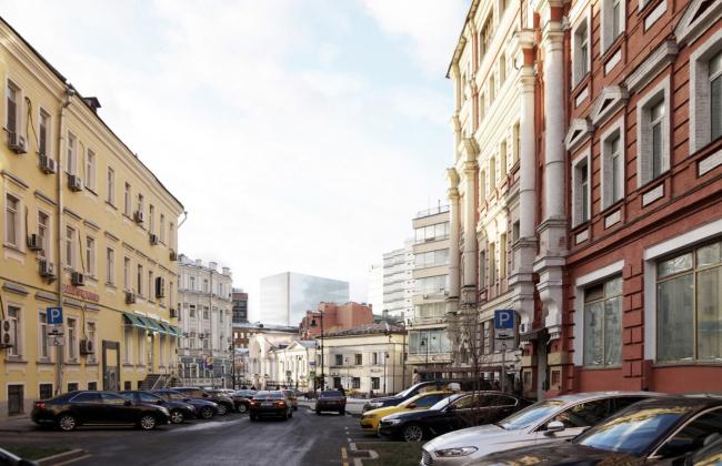 Многофункциональный комплекс на Мясницкой улице. Вид 4 с Мясницкого проезда