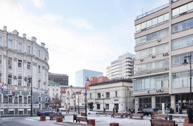 Многофункциональный комплекс на Мясницкой улице. Вид 5 с Мясницкого проезда