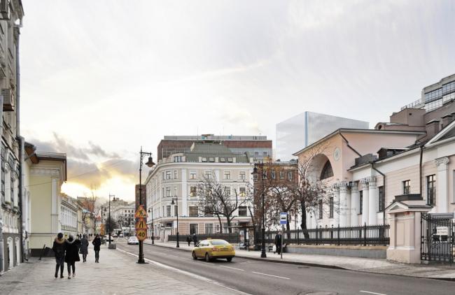 Многофункциональный комплекс на Мясницкой улице. Вид 6 с Мясницкой улицы