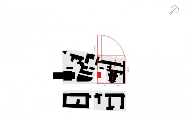 Многофункциональный комплекс на Мясницкой улице. Определение высоты знания на основе существующих параметров здания Ле Корбюзье