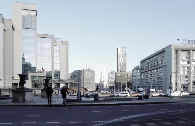 Многофункциональный комплекс на Мясницкой улице. Вид 1 с Тургеневской площади