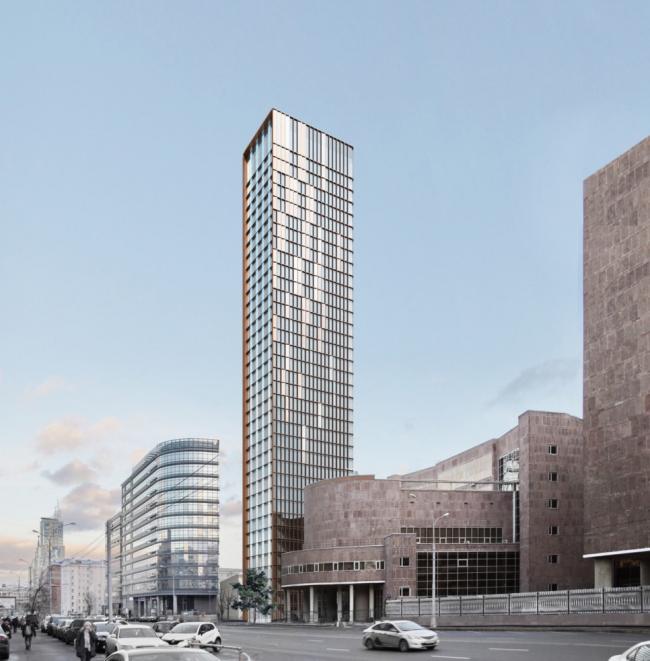 Многофункциональный комплекс на Мясницкой улице. Вид 3 с проспекта Академика Сахарова