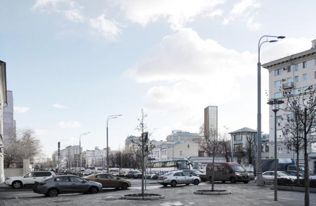 Многофункциональный комплекс на Мясницкой улице. Вид 4 с Садового кольца