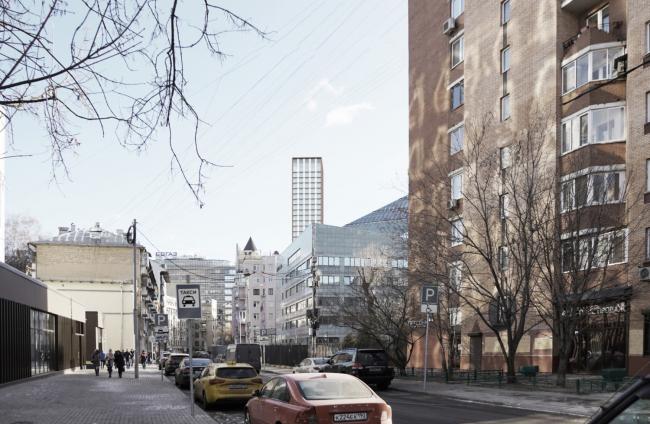 Многофункциональный комплекс на Мясницкой улице. Вид 5 с Даева переулка